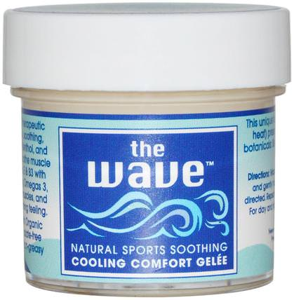 The Wave, Natural Sports Soothing, Cooling Comfort Gelee, 1 oz (30 g) by Aroma Naturals, 健康,皮膚,按摩油,抗疼痛 HK 香港