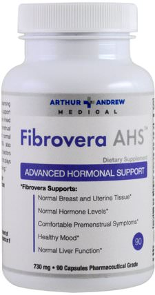FibroVera AHS, Advanced Hormonal Support, 730 mg, 90 Capsules by Arthur Andrew Medical, 補充劑,5-htp HK 香港
