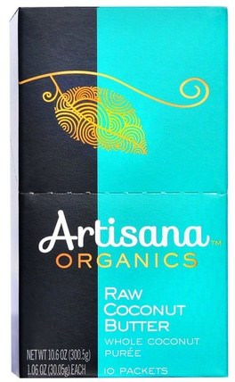 Organics, Raw Coconut Butter, 10 Packets, 1.06 oz (30.05 g) Each by Artisana, 食品,堅果黃油,artisana椰子油和油 HK 香港