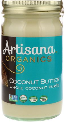 Organics, Coconut Butter, 14 oz (397 g) by Artisana, 食品,堅果黃油,artisana椰子油和油 HK 香港