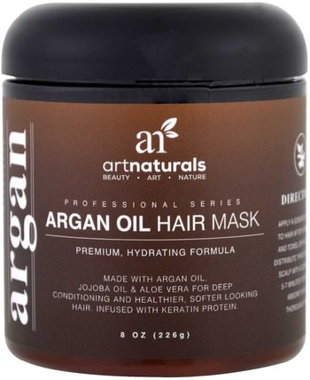 Argan Oil Hair Mask, 8 oz (226 g) by Artnaturals, 洗澡,美容,頭髮,頭皮,護髮素 HK 香港