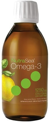 Nutra Sea, Omega-3, Zesty Lemon Flavor, 6.8 fl oz (200 ml) by Ascenta, 補充劑,efa omega 3 6 9(epa dha),dha,epa,ascenta nutrasea HK 香港