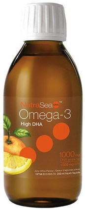 NutraSea, High DHA Omega-3, Juicy Citrus Flavor, 6.8 fl oz (200 ml) by Ascenta, 補充劑,efa omega 3 6 9(epa dha),dha,ascenta nutrasea HK 香港