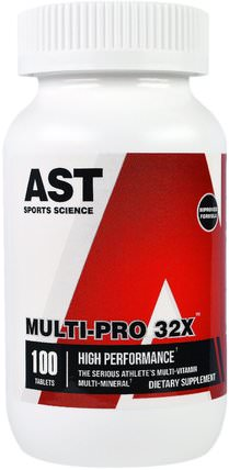 Multi-Pro 32X, 100 Tablets by AST Sports Science, 維生素,多種維生素 HK 香港