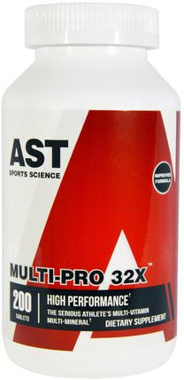 Multi-Pro 32X, 200 Tablets by AST Sports Science, 維生素,多種維生素 HK 香港