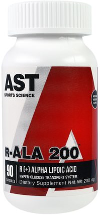 R-ALA 200, 200 mg, 90 Capsules by AST Sports Science, 補充劑,抗氧化劑,α硫辛酸,α硫辛酸200毫克 HK 香港