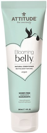 Blooming Belly, Natural Conditioner, Argan, 8 fl oz (240 ml) by ATTITUDE, 洗澡,美容,堅果護髮素,頭髮,頭皮,洗髮水,護髮素 HK 香港