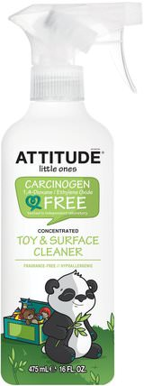 Little Ones, Toy & Surface Cleaner, Concentrated, Fragrance Free, 16 fl oz (475 ml) by ATTITUDE, 兒童健康,兒童和嬰兒清潔,家庭 HK 香港