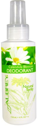 Calendula Blossom Deodorant, Natural Spray, 4 fl oz (118 ml) by Aubrey Organics, 洗澡,美容,除臭噴霧,面部護理,金盞花 HK 香港