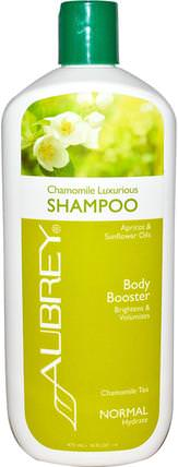 Chamomile Luxurious Shampoo, Chamomile Tea, Normal, 16 fl oz (473 ml) by Aubrey Organics, 洗澡,美容,頭髮,頭皮,洗髮水 HK 香港