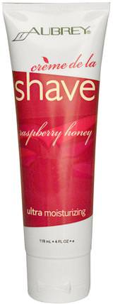 Aubrey Organics, Creme de la Shave, Raspberry Honey, 4 fl oz (118 ml) 健康,皮膚,剃須膏
