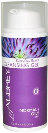 EveryDay Basics Cleansing Gel, Normal / Oily Skin, 3.4 fl oz (100 ml) by Aubrey Organics, 美容,面部護理,洗面奶,健康,皮膚 HK 香港