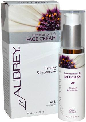 Lumessence Lift Face Cream, All Skin Types, 1 fl oz (30 ml) by Aubrey Organics, 美容,面部護理,面霜,乳液,皮膚 HK 香港