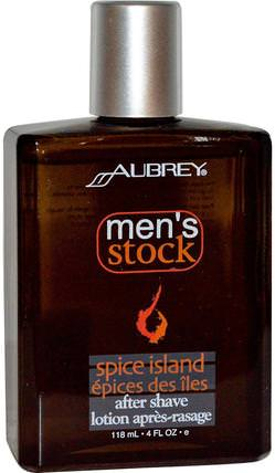Mens Stock, After Shave, Spice Island, 4 fl oz (118 ml) by Aubrey Organics, 洗澡,美容,剃須,剃須後 HK 香港