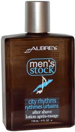 Mens Stock, City Rhythms After Shave, 4 fl oz (118 ml) by Aubrey Organics, 洗澡,美容,剃須,剃須後 HK 香港