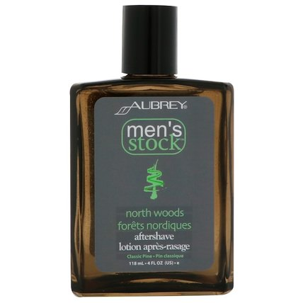 Mens Stock, North Woods After Shave, Classic Pine, 4 fl oz (118 ml) by Aubrey Organics, 洗澡,美容,剃須,剃須後 HK 香港