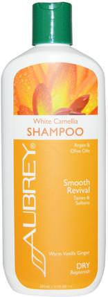 Aubrey Organics, White Camellia Shampoo, Smooth Revival, Dry Replenish, 11 fl oz (325 ml) 洗澡,美容,頭髮,頭皮,洗髮水