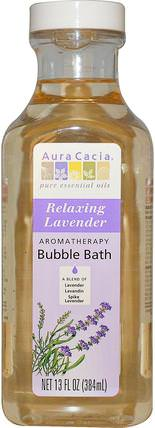 Aromatherapy Bubble Bath, Relaxing Lavender, 13 fl oz (384 ml) by Aura Cacia, 洗澡,美容,泡泡浴 HK 香港