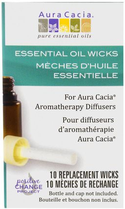 Aromatherapy Diffusers, Essential Oil Wicks, 10 Replacement Wicks by Aura Cacia, 沐浴,美容,香薰精油,空氣擴散器 HK 香港