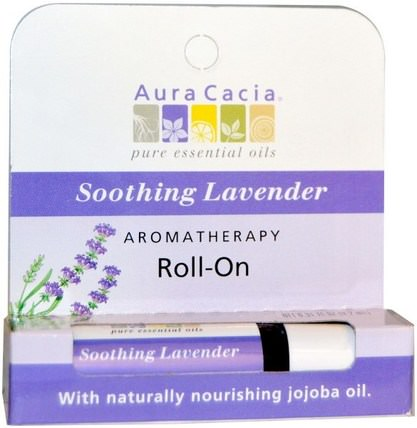 Aromatherapy Roll-On, Soothing Lavender, 0.31 fl oz (9.2 ml) by Aura Cacia, 洗澡,美容,香水噴霧 HK 香港