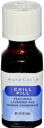 Aura Cacia, Chill Pill, 0.5 fl oz (15 ml) 沐浴,美容,香薰精油