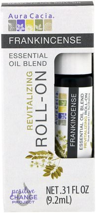 Essential Oil Blend, Revitalizing Roll-On, Frankincense.31 fl oz (9.2 ml) by Aura Cacia, 健康,皮膚,按摩油 HK 香港
