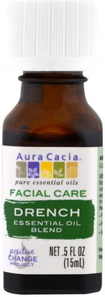Facial Care, Essential Oil Blend, Drench.5 fl oz (15 ml) by Aura Cacia, 美容,面部護理,皮膚 HK 香港