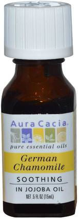 German Chamomile, In Jojoba Oil.5 fl oz (15 ml) by Aura Cacia, 沐浴,美容,香薰精油,洋甘菊油 HK 香港