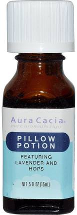 Pillow Potion, 0.5 fl oz (15 ml) by Aura Cacia, 沐浴,美容,香薰精油 HK 香港
