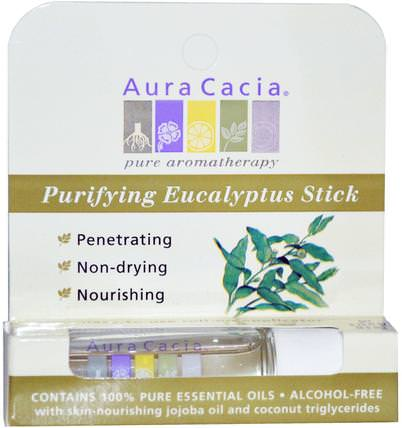Purifying Eucalyptus Stick, Alcohol-Free, 0.29 fl oz (8.6 ml) by Aura Cacia, 洗澡,美容,香水噴霧 HK 香港