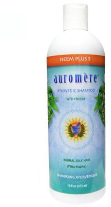 Ayurvedic Shampoo, Neem Plus 5, 16 fl oz (473 ml) by Auromere, 洗澡,美容,洗髮水,頭髮,頭皮,護髮素 HK 香港