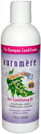 Pre-Shampoo Conditioner, Hair Conditioning Oil, 7 fl oz (206 ml) by Auromere, 洗澡,美容,護髮素,頭髮,頭皮,洗髮水,護髮素 HK 香港