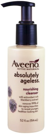 Absolutely Ageless, Nourishing Cleanser, 5.2 fl oz (154 ml) by Aveeno, 美容,面部護理,皮膚類型中性至乾性皮膚 HK 香港