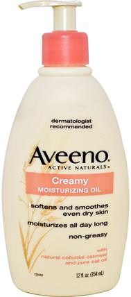 Active Naturals, Creamy Moisturizing Oil, 12 fl oz (354 ml) by Aveeno, 健康,皮膚,身體,按摩油 HK 香港