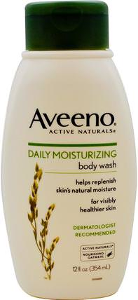 Active Naturals, Daily Moisturizing Body Wash, 12 fl oz (354 ml) by Aveeno, 身體,每日保濕 HK 香港