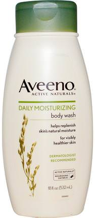 Active Naturals, Daily Moisturizing Body Wash, 18 fl oz (532 ml) by Aveeno, 身體,每日保濕 HK 香港