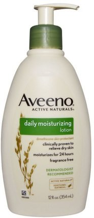 Active Naturals, Daily Moisturizing Lotion, Fragrance Free, 12 fl oz (354 ml) by Aveeno, 身體,每日保濕 HK 香港
