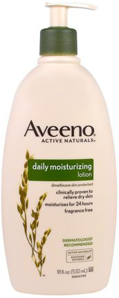Active Naturals, Daily Moisturizing Lotion, Fragrance Free, 18 fl oz (532 ml) by Aveeno, 身體,每日保濕 HK 香港
