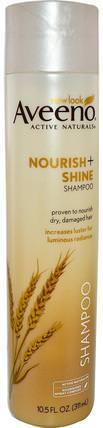 Active Naturals, Nourish + Shine Shampoo, 10.5 fl oz (311 ml) by Aveeno, 洗澡,美容,頭髮,頭皮,洗髮水,護髮素 HK 香港