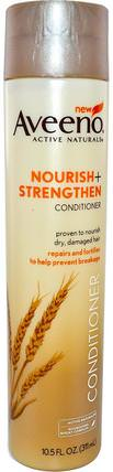 Active Naturals, Nourish+Strengthen, Conditioner, 10.5 fl oz (311 ml) by Aveeno, 洗澡,美容,頭髮,頭皮,洗髮水,護髮素,護髮素 HK 香港