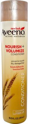Active Naturals, Nourish + Volumize Conditioner, 10.5 fl oz (311 ml) by Aveeno, 洗澡,美容,頭髮,頭皮,洗髮水,護髮素,護髮素 HK 香港