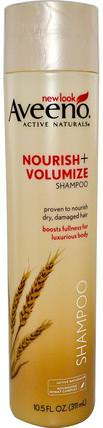 Active Naturals, Nourish+Volumize, Shampoo, 10.5 fl oz (311 ml) by Aveeno, 洗澡,美容,頭髮,頭皮,洗髮水,護髮素 HK 香港