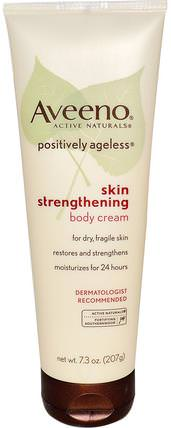 Active Naturals, Positively Ageless, Skin Strengthening, Body Cream, 7.3 oz (207 g) by Aveeno, 身體,積極的永恆 HK 香港