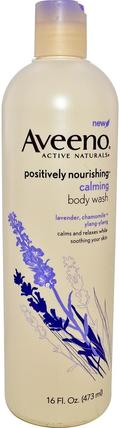 Active Naturals, Positively Nourishing, Calming Body Wash, 16 fl oz (473 ml) by Aveeno, 身體,正面滋養 HK 香港