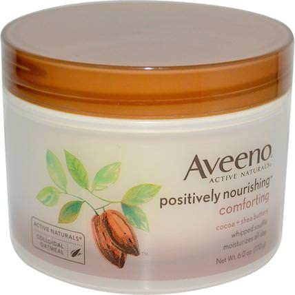 Active Naturals, Positively Nourishing, Cocoa + Shea Butters, Whipped Souffle, 6.0 oz (170 g) by Aveeno, 身體,正面滋養 HK 香港