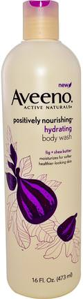 Active Naturals, Positively Nourishing, Hydrating Body Wash, 16 fl oz (473 ml) by Aveeno, 身體,正面滋養 HK 香港