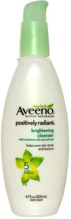 Active Naturals, Positively Radiant, Brightening Cleanser, 6.7 fl oz (200 ml) by Aveeno, 美容,面部護理,美白面部護理 HK 香港