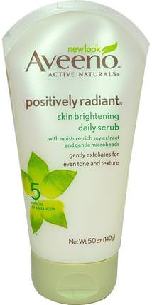Active Naturals, Positively Radiant, Skin Brightening Daily Scrub, 5.0 oz (140 g) by Aveeno, 美容,面部護理,美白面部護理 HK 香港
