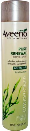 Active Naturals, Pure Renewal, Conditioner, 10.5 fl oz (311 ml) by Aveeno, 洗澡,美容,頭髮,頭皮,洗髮水,護髮素,護髮素 HK 香港