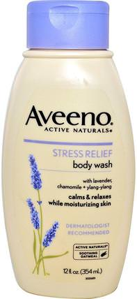 Active Naturals, Stress Relief Body Wash, 12 fl oz (354 ml) by Aveeno, 身體,抗壓力緩解 HK 香港